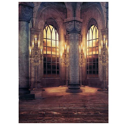 Telon de fondo de pared - SODIAL(R)3x5ft Telon de fondo de pared de palacio retro del vinilo de tela apoyo de fotografia de estudio