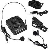Aker MR1505 Voix Amplificateur Portable de ceinture 12watts noir pour les enseignants, entraîneurs, guides touristiques, des présentations, Costumes, Etc