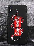 Elizabeth Wilhel SUP x GG Snake Logo iPhone X/XS Custodia, Custodia Cover Slim Anti Scivolo Custodia Protezione Posteriore Cover Antiurto per iPhone X/XS - GU006