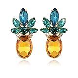 YAZILIND Kristall ananas temperament ohrringe Westlichen mode eardrop für frauen