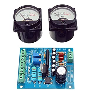 Abaobao-2Pcs VU Meter Warm Back Light Recording + Audio Level Amp With Driver Board