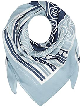 Tommy Hilfiger Damen Halstuch Stripes & Hearts Scarf