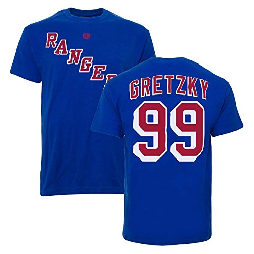 OTH New York Rangers Wayne Gretzky #99 Alumni NHL T-Shirt Blau S
