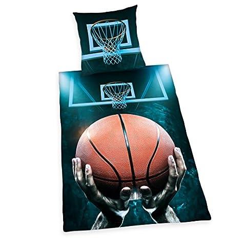 Herding Young Collection Parure de lit de basket-ball, Coton, mehrfarbig, 135 x 200 x cm