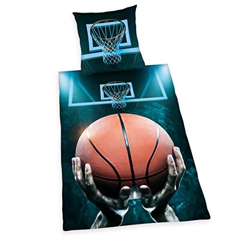 Herding 4459233050 Young Collection Basketball Bettwäsche Bettwäsche-Set, Baumwolle, Mehrfarbig, 135 x 200 cm