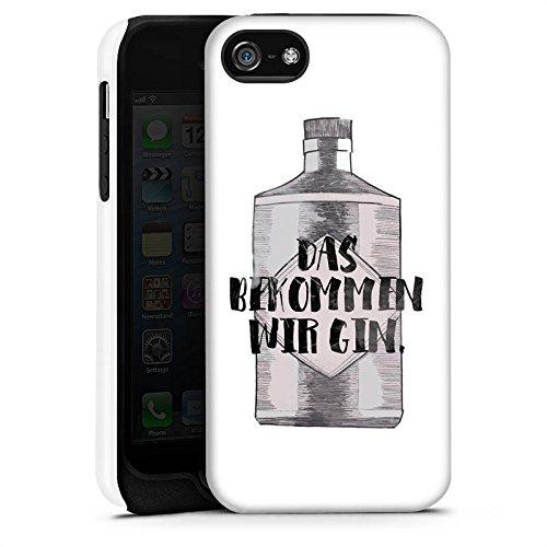 Apple iPhone X Silikon Hülle Case Schutzhülle Spruch Statement Das bekommen wir Gin Tough Case matt