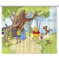 Diseño AG FCS xl 4306 cortina/cortinas decorativo de Winnie The Pooh