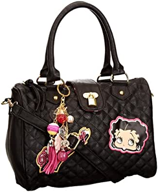 Betty Boop Busy Bee Women's Quilted Handbag Black One Size