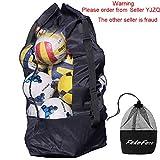 YJZQ Bolsa de viaje de malla impermeable extra grande, bolsa de deporte de alta resistencia, bolso de hombro, bolso de baloncesto, voleibol, fútbol, bolsa de almacenamiento con cordón para 10 – 15 bolas