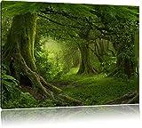 Dschungel im tropischen Regenwald, Format: 100x70 auf Leinwand, XXL riesige Bilder fertig gerahmt mit Keilrahmen, Kunstdruck auf Wandbild mit Rahmen, günstiger als Gemälde oder Ölbild, kein Poster oder Plakat