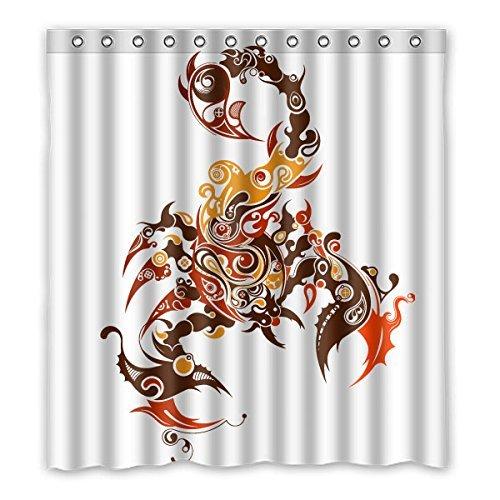 3cm (167,6x 182,9cm) Badezimmer Dusche Vorhang, Scorpion Puzzle Blickdicht Polyester Wasserdicht Mehltau Duschvorhang Stoff Custom ()