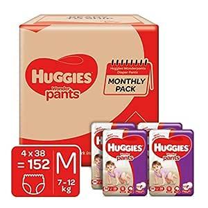 Huggies Wonder Pants Diapers Monthly Pack, Medium (152 Count)