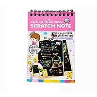 CALISTOUS Scratch Notes Children Creative Rainbow DIY Magic Black Doodle Sketch Pad Notebook Kids Scratch Drawing Art Craft Books