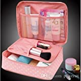 Fast Unbox Women's Nylon Travel Cosmetic Makeup Toiletry Case Wash Organizer