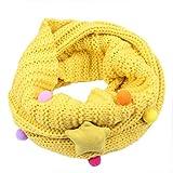 Schals Kolylong Babys Mädchen Jungen Herbst Winter Warm Stricken Schals Kinder Netter Schal Unisex Baumwollschal Kinderschal Loopschal Halstücher (Gelb)
