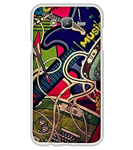 PrintVisa Designer Back Case Cover for Samsung On7 (2016) New Edition For 2017 :: Samsung Galaxy On 5 (2017) (Graphic Image of Music Gadgets Guitar)