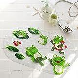 monba Badewanne, Dusche, Badezimmer, Anti-Rutsch-Badewannenmatte mit Saugnäpfen für Kinder und ältere frosch