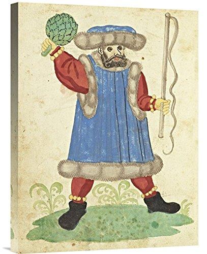 Galerie Kostüm - Global Galerie Budget gcs-454781-4.633-360,7cm Deutsche 16. Jahrhundert Civic Festival der Nürnberg schembartlauf-blue Kostüm Galerie Wrap Wandbild Giclée auf Leinwand Kunstdruck