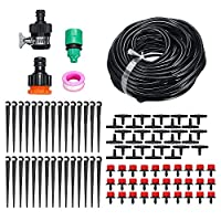 Mainstayae Garden Patio Water Mister Air Misting Cooling Micro Irrigation System Sprinkler 25M&30 dripper-heads