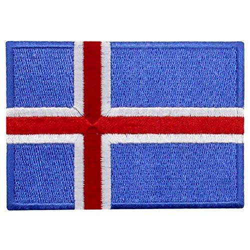 Mädchen Island Kostüm - EmbTao Island Flagge Bestickter Aufnäher zum Aufbügeln/Annähen