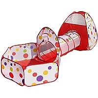 Pop Up Tienda de Juegos Para Niños Plegable, Play House for Kids Túnel Infantil con Cuadro de Baloncesto Plegable Portátil BOLAS NO INCLUIDO