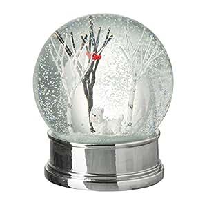 blanc pour chien boule de neige belle sc ne d 39 hiver d 39 un chien et des arbres. Black Bedroom Furniture Sets. Home Design Ideas