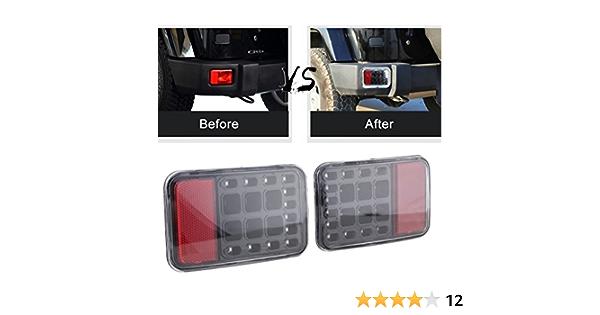 Sxma Led Schwanz Hinten Bumper Licht Back Up Rücklicht Hinten Bremslicht Montage Auto