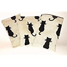 "Set of 3 soft cushion ""Black Cats"" cat toy – Valerian Catnip"