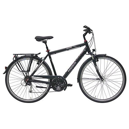 Pegasus Solero SL Herren 24 Gang Cityrad Trekking Fahrrad 2017, Farbe:Schwarz, Rahmenhöhe:58 cm
