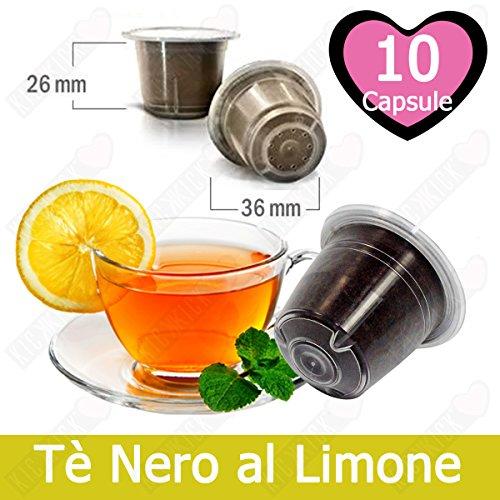 10 Capsulas Té Negro Limón Compatibles Nespresso - Café Kickkick
