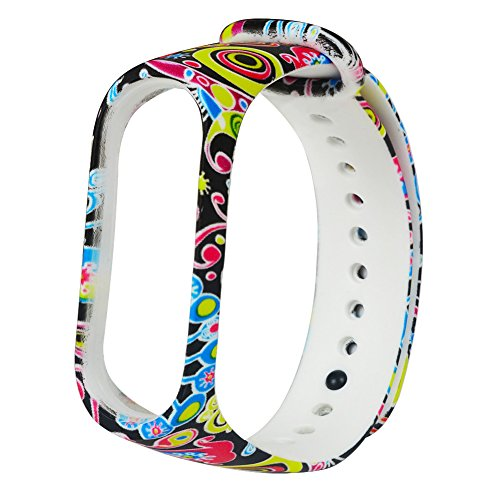 YBWZH Mode weichem Silikon Ersatz Armband Handschlaufe für Xiao Mi Band Farben Uhrenarmband(AS Show)