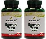 (2 Πακέτο) - Natures Aid - Brewers Yeast 300mg | 500'μικρό | 2 PACK BUNDLE
