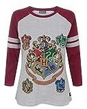 Harry Potter Hogwarts Women's Raglan Top (M)