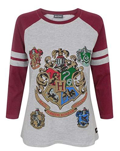 Hogwarts Harry Potter Women\'s Raglan Top (L)