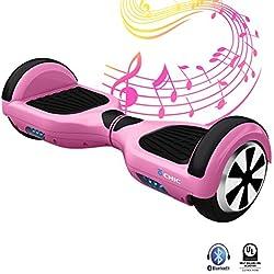 IOCHIC Chic-0877 Patinete Eléctrico con Bluetooth, Niños Unisex, Talla Única,Color Rosa