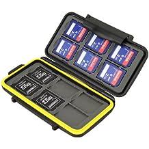 Kaavie - Estuche impermeable Anti-choque para tarjetas de memorias para combinaciones: 12 x tarjetas SD