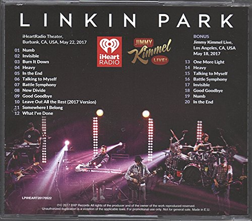 LINKIN PARK Live at iHeart Radio Festival 2017 One More Light Tour LIVE limited edition CD [Audio CD]