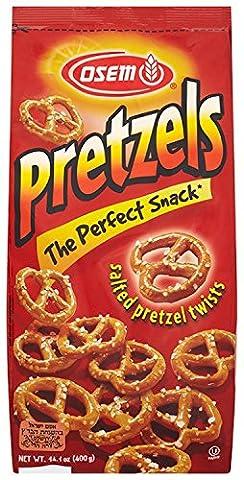 Osem Salted Pretzel Twists 400 g (Pack of 12)
