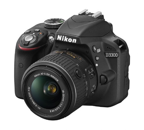 Nikon D3300 SLR-Digitalkamera (24 Megapixel, 7,6 cm (3 Zoll) TFT-LCD-Display, Live View, Full-HD) nur Gehäuse schwarz -
