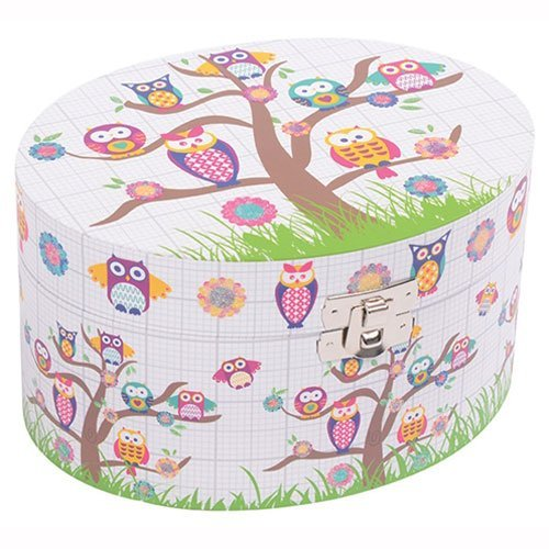 Childrens Musical Jewellery Box – Owls Design NEW Boxed Gift