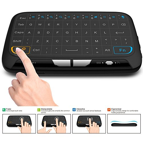 Tastiera wireless acemax e touchpad mouse combo, mini tastiera da 2,4 ghz con pannello intero touchpad mouse remoto per android tv box, htpc, iptv, pc, laptop, ps3, xbox 360, smart tv e altro