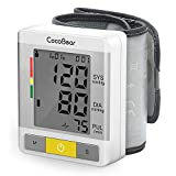 CocoBear Wrist Blood Pressure Monitor, Digital Automatic Measure Blood Pressure Machines for Home Use, Large LCD Screen Display, Portable Blood Pressure Test Monitor with Heart Rate