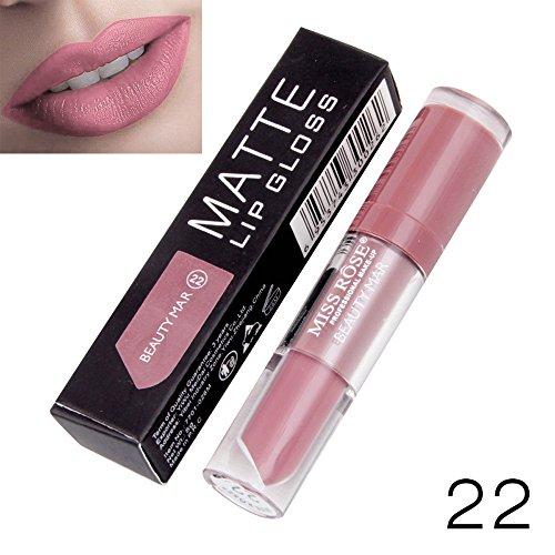 Yazidan Miss Rose Flüssigkeit Lippenstift Feuchtigkeitscreme SAMT Lippenstift Kosmetik Schönheit Bilden Wasserdicht Vampir-Stil Glanz Glänzend Mode Lange andauernd Feuchtigkeitsspendend (#21)