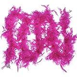 1pc 2m / 79Inch Vêtements Accessoires pour la Turquie Plume Strip Birthday Party Supplies Décorations de Mariage (Rose Rouge)
