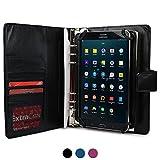 Sony Xperia Z3 Tablet Compact étui avec bloc-notes, porte-documents COOPER FOLDERTAB Premium professionnel Organisateur portefeuille pour gaucher/droitier, bloc-notes remplaçable, pochettes (Noir)