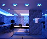 #8: 6W LED Side Blue Round Panel Light Ceiling 3D Effect Lighting (Double Color) (Pack of 10)