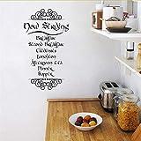 Lglays Der Hobbit Tolkien Inspiriert Mahlzeit Zitate Vinyl Wandaufkleber Abziehbilder Küche Kunst Abziehbilder Wandbild Dekoration45 * 80 Cm