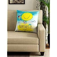 Portico New York Happin s is Multicoloured Printed Square Cushion 40 cm  x 40 cm