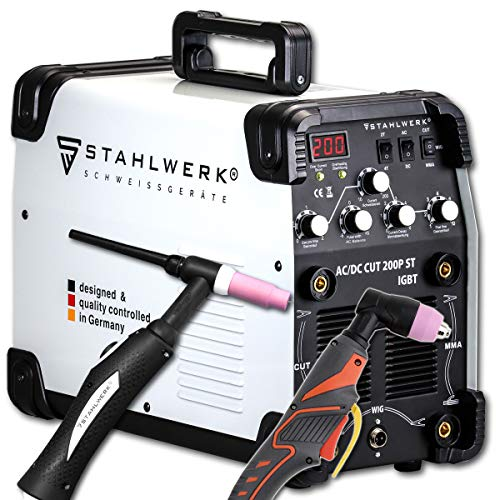 STAHLWERK AC/DC WIG 200 Plasma ST IGBT - Saldatrice combinata 200 Amp...