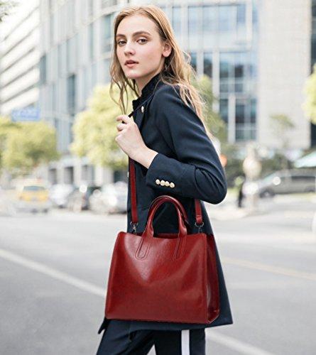 YiLianDa Borse Handbag Bauletto Borsa a Mano da Donna con Tracolla in PU Pelle come immagine(1)